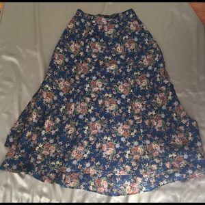 Liz Claiborne Lizsport Layered maxi Skirt size 2P